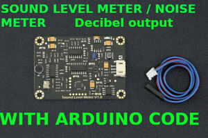 Analog Sound Level Meter Noise Meter Decibel Output With Software Code Arduino