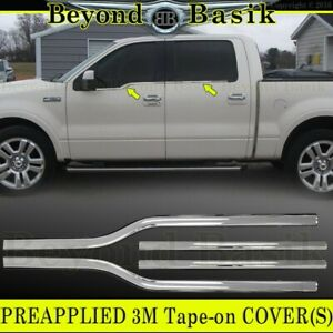 2004 2008 Ford F150 F 150 4dr Crew Cab Chrome Window Sill Trims Covers Overlay