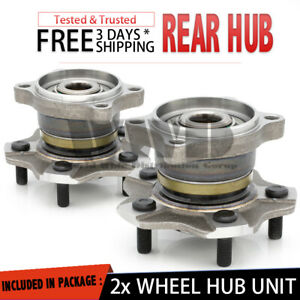 2x 512202 Rear Wheel Hub Bearing Assembly Stud Non Abs For 2002 06 Nissan Altima
