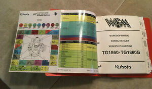 Kubota Tg1860 Tg1860g Garden Tractor Service Shop Repair Workshop Manual