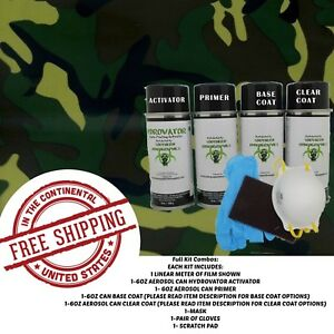 Hydrographic Water Transfer Hydro Dip Full Kit Activator 1m Army Camo 2 Film