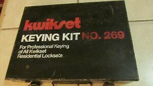Kwikset Professional Keying Kit No 269 All Residential Lockets With Metal Case