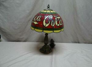 Coca Cola Vintage Stain Glass Look Tiffany Style Lamp - 16