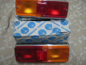 Nos Orig Carello Pair Fiat 128 Taillights Assembly