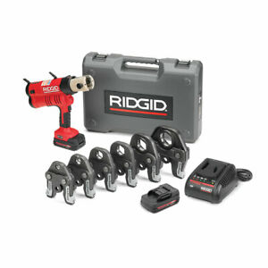 Ridgid 43358 Rp 340 Battery Press Tool Kit With Propress Jaws 1 2 2