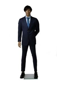 Adult Male African American Fiberglass Full Body Realistic Standing Mannequin