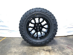 18x9 Fuel D673 Blitz Black Wheels Rims 33 Mt Tires 5x5 Jeep Wrangler Jk Jl Jt
