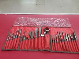 Snap On Tools Matco Tools Chisel And Punch Set 27 Pcs In C2700 Kit Bag Kp