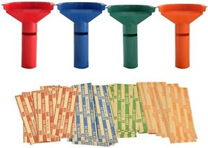 Easy Wrap 5 Coin Tube Set With 110 Wrappers Included Funnel Shaped Color Coded
