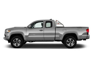 Black Horse For 15 21 Toyota Tacoma Stainless Roll Bar Bed Rack Cargo Rb003ss