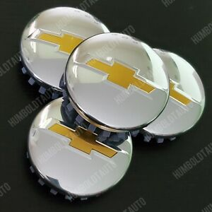 4 Chrome Gold Wheel Rim Center Hub Cap For Chevy Silverado Suburban Tahoe 83mm