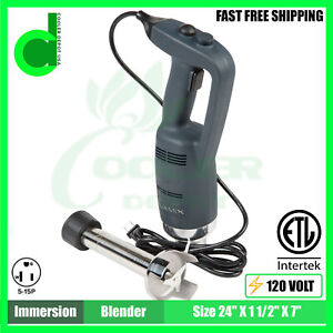 12 Immersion Blender Heavy Duty Variable Speed Nsf Etl New Cooler Depot Usa