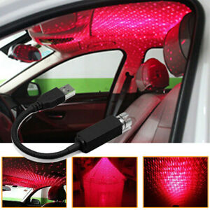 Usb Car Atmosphere Lamp Ambient Star Light Led Projector Starry Lamp Accessories