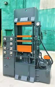 80 Ton Hydraulic Post Press Electric Platens Rubber Molding W Pump