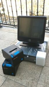 Elo 15 Touchscreen All In One Pos System Restaurant Point Of Sale 2 Printers