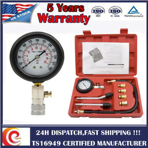 Cylinder Leakdown Tester Leakage Detector Engine Compression Tester Gauge 300psi