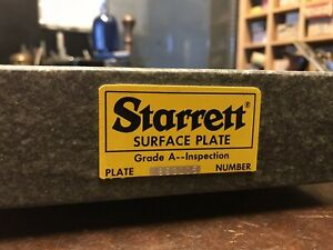 Starrett Granite Surface Plate 12 X 8 X 2 Grade A Inspection Great Condition