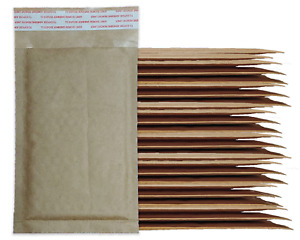 Brown Kraft 4x8 Bubble Mailers 10 25 40 Or 100 Pack Shipping Paper Mail Bags