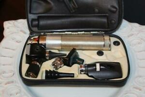 Euc Welch Allyn 3 5v Otoscope Ophthalmoscope Diagnostic Kit 20000 11620 71050