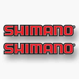 2x Shimano Vinyl Sticker Decal Truck Fishing Boat Sponsor Rods Reels Pro Comp
