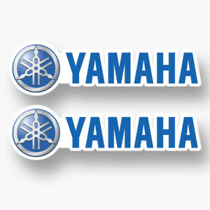 2x Yamaha Vinyl Sticker Decal Fishing Boat Sponsor Boats Motor Bass Competition