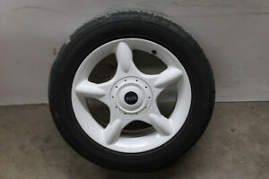 2003 Mini Cooper Coupe R50 White 16x6 5 Inch Wheel And Tire 1512349