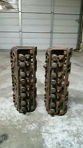 1976 C3 Corvette Small Block 350 Chevy Gm Cylinder Heads 333882 Matched Pair