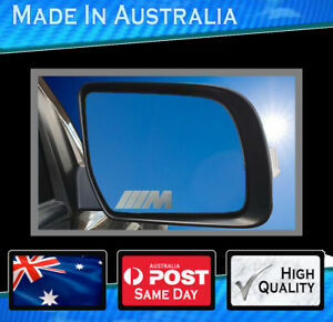 Mirror Decal To Suit Bmw M Set Of 3 Highest Quality Avery Semi Transparent