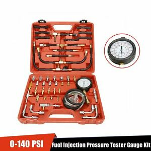 0 140 Psi Manometer Fuel Injection Pressure Tester Gauge Kit System