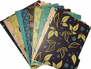 30 Pack Decorative File Folders Designed 10 Unique Designs 3 Of Each With Stagge