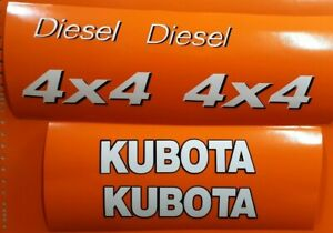 Kubota Utility Vehicles Side By Side Replacement 6 Decals Set White