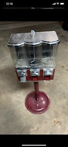 Triple Bulk Candy Vending Machine 3 Head Dispenser For Parts Only