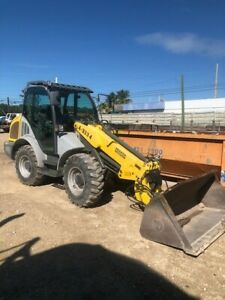 2017 Wacker Neuson Wheel Loader With Telescoping Boom And 7 Ton Trailer Low Hour