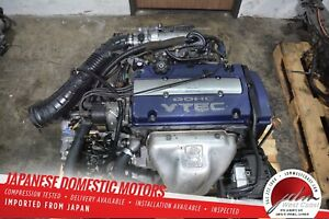 Jdm Honda Accord Sir Engine H23a Blue top Vtec 98 02 2 3l Dohc Prelude 3