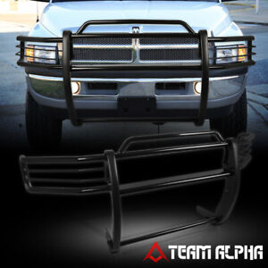 Fit 1999 2001 Dodge Ram 1500 Quad Black Mild Steel 1 5 Bumper Grille Brush Guard