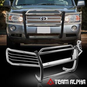 Fit 2001 2007 Toyota Highlander Chrome Stainless Steel Bumper Grille Brush Guard
