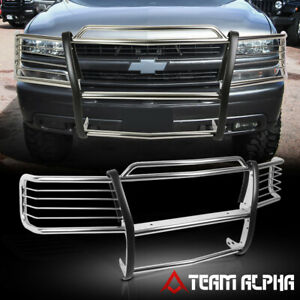 Fits 1999 2006 Silverado suburban Stainless Steel 1 5 Bumper Grille brush Guard