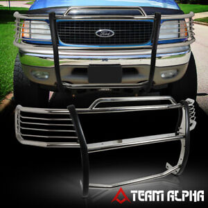 Fit 1999 2004 Expedition f150 f250 Stainless Steel 1 5 bumper Grille brush Guard