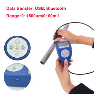 Paint Coating Thickness Gauge Meter Fe nfe 0 To 1500um Bluetooth Data Transfer