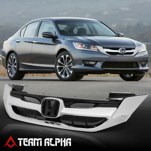 Fits 2013 2015 Honda Accord sport style Chrome black Bumper Grillet Vent Grill