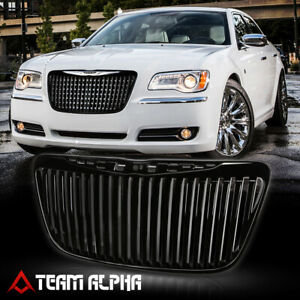 Fits 2011 2014 Chrysler 300 300c Vertical Bar Black Abs Bumper Grille Vent Grill