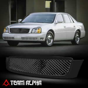Fit 2000 2005 Cadillac Deville 3d Wave Mesh Glossy Black Abs Bumper Grille Grill