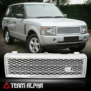 Fit 2003 2007 Range Rover Hse Autobiography Style Chrome Silver Abs Grille Grill