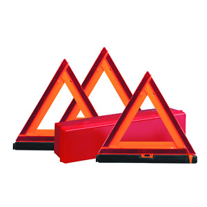 Deflecto Early Warning Road Safety Reflective Triangle Kit Folding Design With
