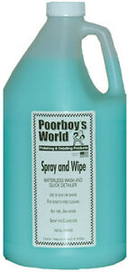 Poorboy s World Spray And Wipe Waterless Car Wash 1 Gallon Refill Pb saw128