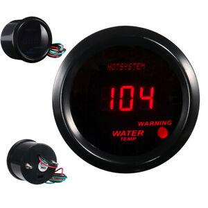 2 In Red Digital Led Water Temp Temperature Gauge With Sensor Fahrenheit 104 Us