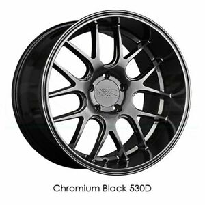 4 New 19 Xxr 530d Wheels 19x10 5 5x114 3 20 Chromium Black Rims