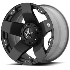 4 New 17 Xd Xd775 Rockstar Wheels 17x8 5x114 3 5x4 75 10 Matte Black Rims
