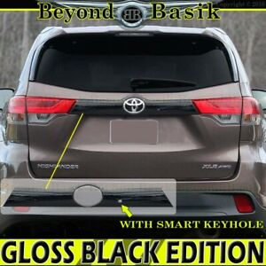 For 2014 2019 Toyota Highlander Gloss Black Liftgate Tailgate Handle Cover W skh