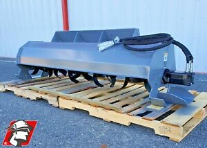 Maximizer 72 Rotary Tiller For Skid Steer 15 Gpm W Hoses And Skid Steer Mount